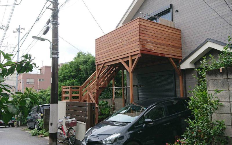 東京23区の天然木ハードウッドデッキ
